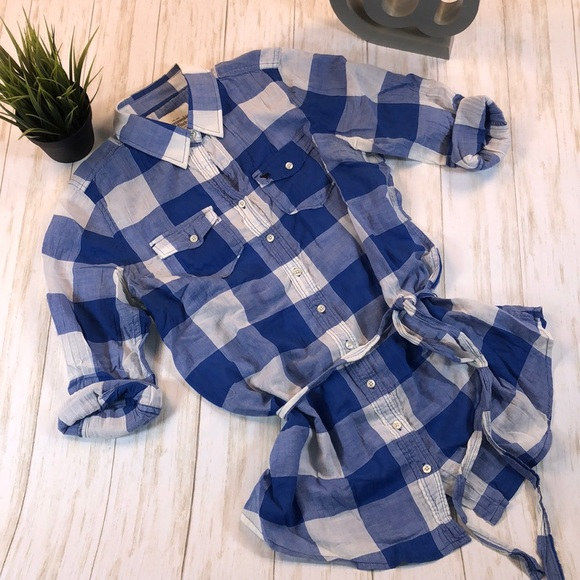 Abercrombie & Fitch Tops - Abercrombie & Fitch Checkered Button Down Shirt